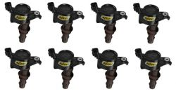 COIL 8PK,FORD LATE MOD ENG 3-VALVE, BLAC