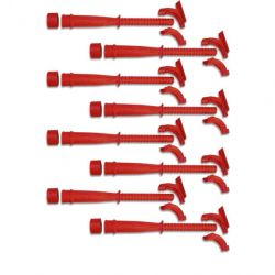 MSD Hemi Tube, Replacement, 8, Red