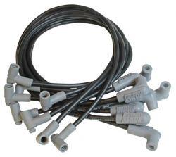MSD WireSet Blk SB Chevy w/HEI Cap blw mnfld