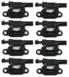 MSD Coils, Blk, Square, '14 & up GM V8, 8-pk