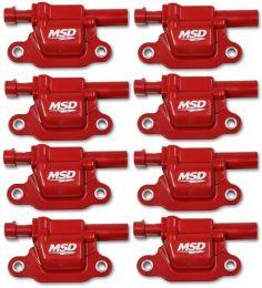 MSD Coils, Red, Square, '14 & up GM V8, 8-pk