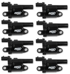 MSD Coils, Blk, Round, '14 & up GM V8, 8-pk