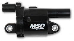 MSD Coil, Black, Round, 2014 & up GM V8
