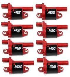 MSD Coils, Red, Round, 2014 & up GM V8, 8-pk