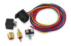 MSD ELECTRIC FAN HARN./RELAY KIT 195 DEG-30A