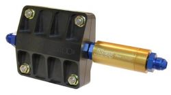 FFuel Safety Check Valve Kit 4″ Billet Filter anodized black with 28 Micron Screen